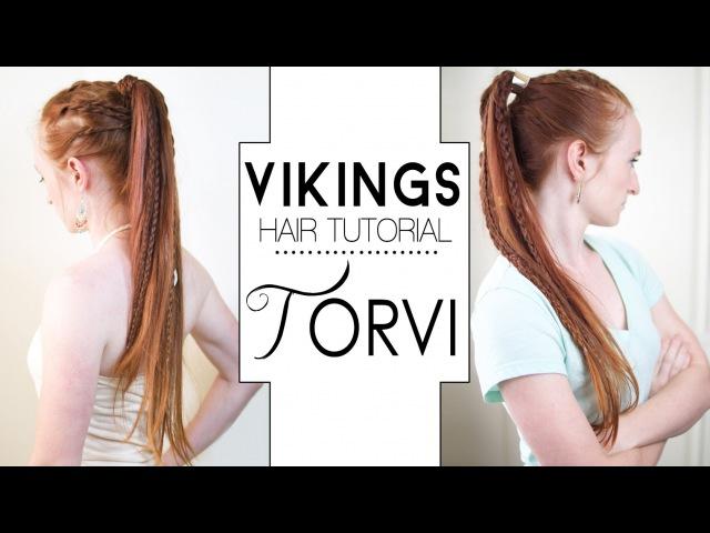 Vikings Hair Tutorial - Torvi Braided Ponytails