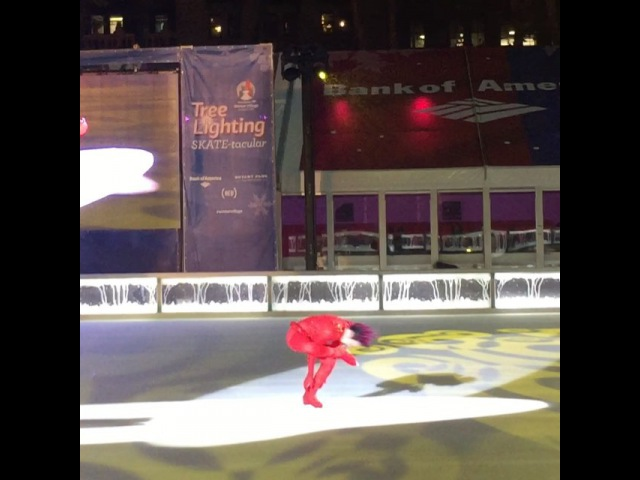 "Laurencia Wibawa on Instagram Johnny Weir ⛸ at 🎄 lighting johnnyweir figureskating xmas bryantpark nyc christmastreelighting newyork wintervillage"""