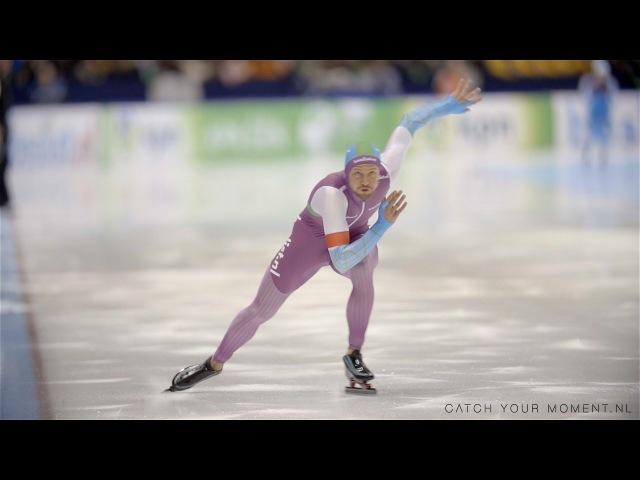 Schaats techniek start afzet 1000m Michel Mulder Slowmotion 16 38 opening