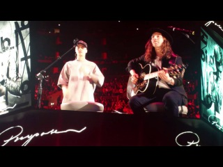 An evening with Justin Bieber to celebrate the pur