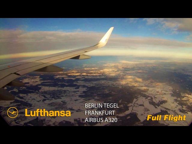 Lufthansa Full Flight Berlin Tegel to Frankfurt Airbus A320