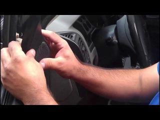 как разобрать обшивку двери на паджеро