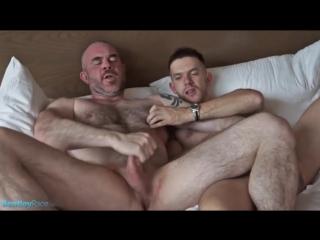 Hairy muscle dad fucks a boy