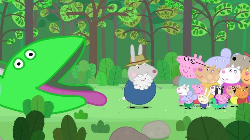 Peppa Pig Grampy Rabbits Dinosaur Park full episode