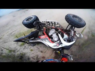 Crashes Fails Yamaha Raptor 700 - ATV quad compilation 2016 #2