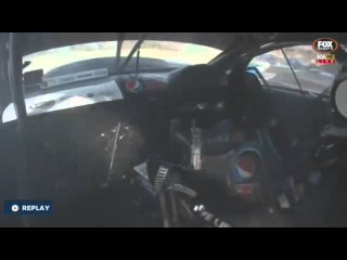 2015 V8 Supercars Bathurst 1000 Qualifying Chaz Mostert puts it in the wall