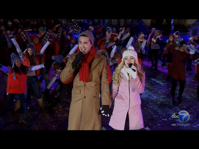 Dove Cameron Ryan McCartan Mag Mile Lights Performance in Chicago LIVE 11 21 15