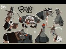 The SPA Studios Dany Fernández's Character Time Lapse Drawing The Gang