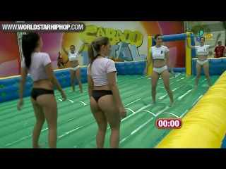 Sexy brazilian girls playing football