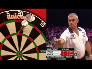 Phil Taylor vs Steve Beaton (World Grand Prix 2014 / First Round)