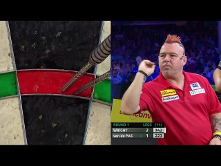 Peter Wright vs Benito van de Pas (Players Championship Finals 2014 / Round 1)