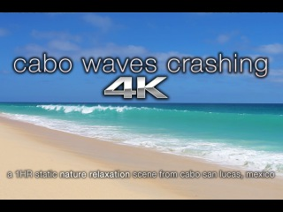 4K UHD Cabo San Lucas Beach BIG Waves Crashing | Nature Relaxation™Calming Video Scene / Screensaver