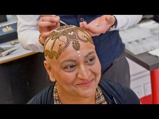 'Henna Heals': Bald Breast Cancer Battler Given Stunning Body Art Crown
