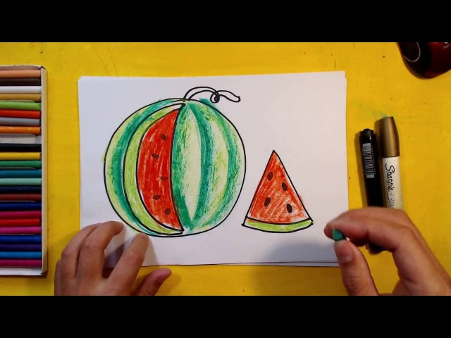 Как нарисовать АРБУЗ Урок рисования для детей от 3 лет