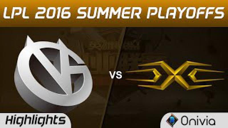 VG vs SS Highlights Game 2 Tencent LPL Summer 2016 Playoffs Tie Breaker Vici Gaming vs Snake
