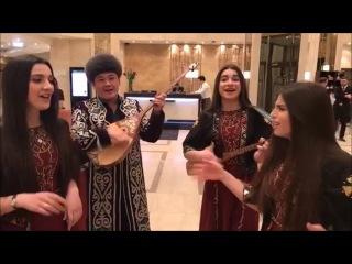 "Trio Mandili and Bebit Musa - kazakh folk song ""Gulderayim"""