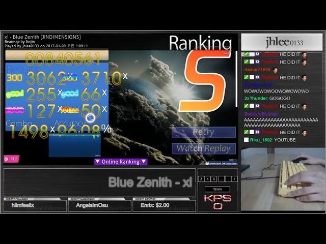 ★16 12 Blue Zenith JINDIMENSIONS 96 08% S osu mania
