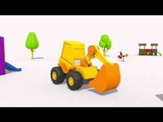ЭКСКАВАТОР МАСЯ мультики про машинки для самых маленьких- яйцо СЮРПРИЗ и Полицейский мотоцикл