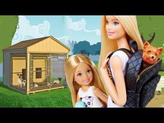 Мультик Барби и сестры взяли собаку из приюта! Мультик Barbie Girls