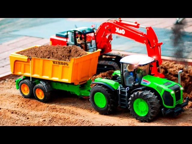 Traktor Szybki Traktorki i Buldożer Praca na polu Dobre Bajki dla dzieci po polsku