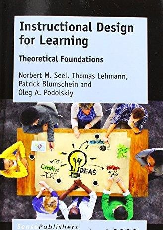 Instructional Design for Learning Theoretical Foundations