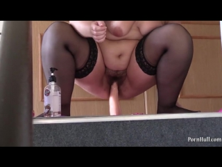 Beautiful bbw, fucking with rubber hand fisting