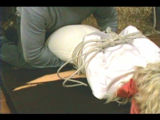 Stable Girl Rosanna in Riding Gear Attacked Bound and Gagged by Surprise Assailant (Inxesse)