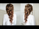 Voluminous Greek style Braid Easy Hairstyle for long dark hair