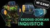 War Robots. Inquisitor Exodus and 2 Orkan. Инквизитор на Эксодусах и Орканах. Ракетный шквал.