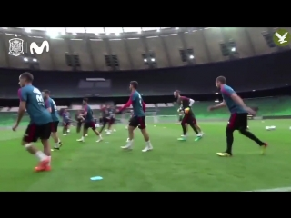 What on earth is going on in Spain training!? 😂