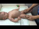 разминка для малыша перед купанием (4 мес)