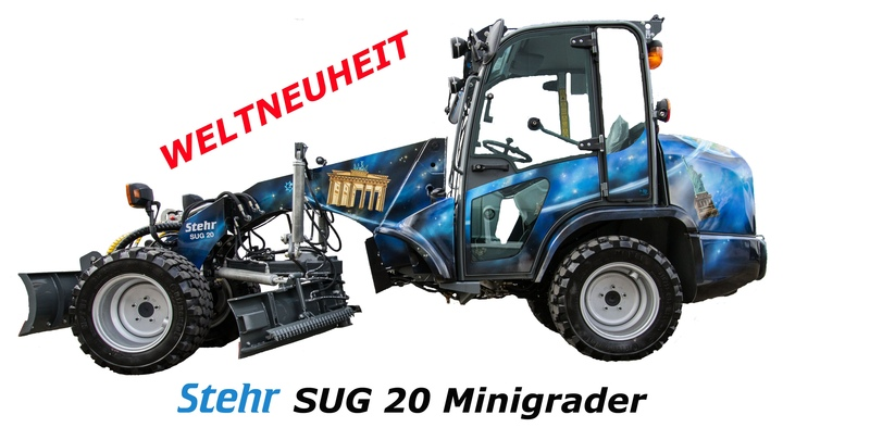 Stehr laser mini grader with Trimble world first video of it in use HD EN