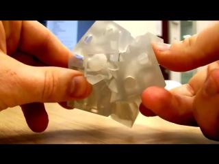 Этот куб напечатан на 3D принтере, будущее наступает #128515;