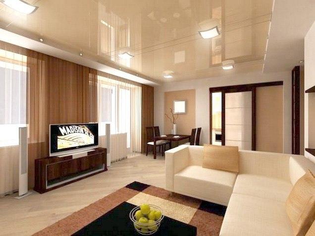Как выбирать натяжные потолки в гостиную?, изображение №2