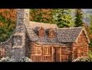 Дом в лесу - готовая работа алмазной мозаики Алмазная Фея 0009