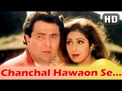 Chanchal Hawaon Yella Ye HD Kaun Sachcha Kaun Jhootha Song Sridevi Rishi Kapoor