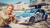 ALL CRAZY TESLA MODEL X FEATURES (PARTY MODE, MARS MAP ETC...) NICO ROSBERG eVLOG