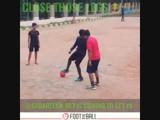 Count em nutmegs NOW! - via @sabareesh_007 - - nutmeg panna skills football soccer Golazo FootTheBall HereToCreate NIKEFOOTBALL