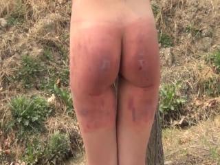 Outdoor Spanking - Pain - Chinese Girl - Cruel