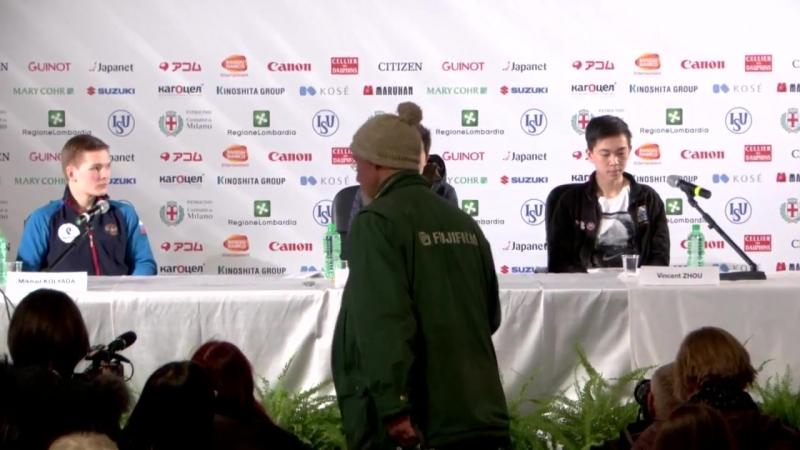 Men SP Press Conference (Worlds)