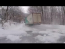 Semi Truck Drifiting on Winter Roads