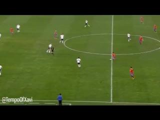 Xavi Hernandez in the 2010 World Cup semi final. - - Genius. - -