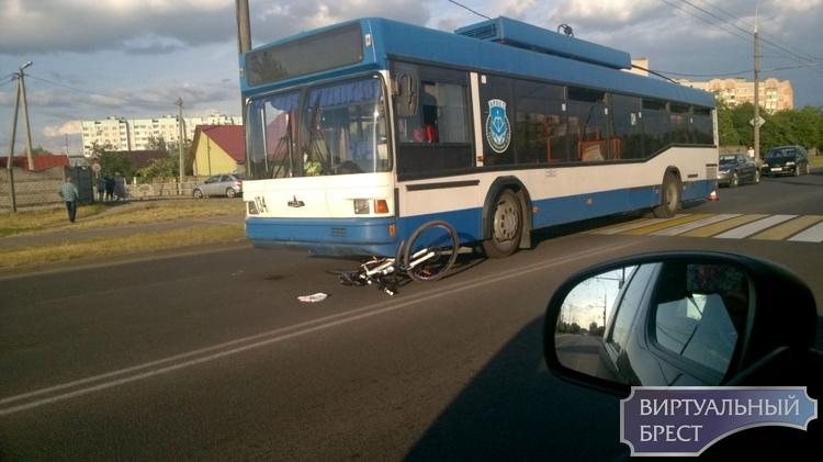 На ул. 28-го Июля троллейбус сбил девочку на велосипеде