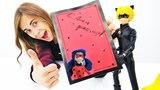 Супер Кот делает открытку с Леди Баг. Видео для детей