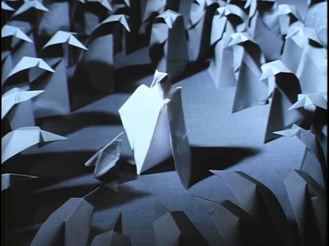 АДАЖИО. Бумажные фигурки. Мультфильм Гарри Бардина 2000г