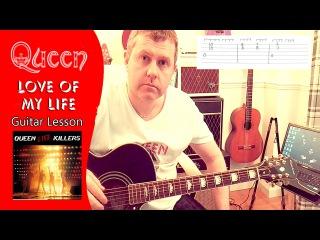 Queen - Love Of My Life - Live Killers - Guitar Tutorial (Guitar Tab)
