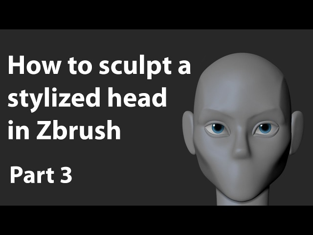 How to Polypaint the eye in Zbrush - Tutorial Part 3 - Sculpting the head
