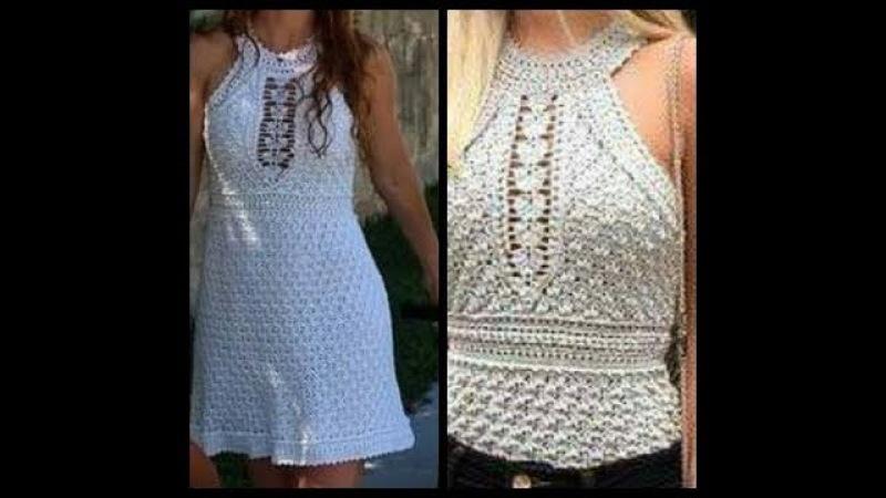 Crochet tutorial blusa vestido verano