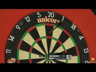 Michael van Gerwen vs Gerwyn Price (PDC European Championship 2016 / Round 2)