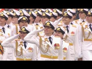 Женщины прошли на Параде Победы